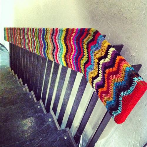 Oh so nice! #yarnbombing #yarngraffiti #crochet #crochetgraffiti #reykjavik #iceland #atmo