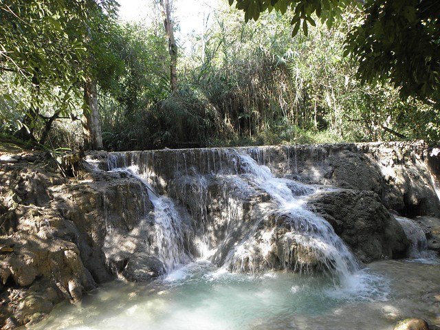 A waterfall in northern Laos