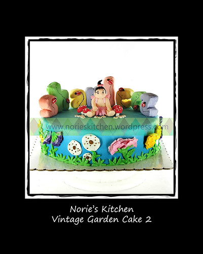 Norie's Kitchen - Vintage Garden Cake 2 by Norie's Kitchen