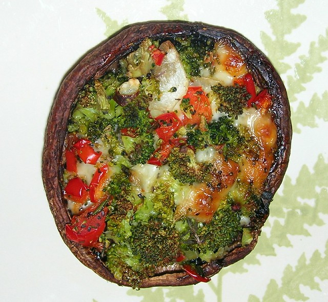 Broccoli Stuffed Mushrooms
