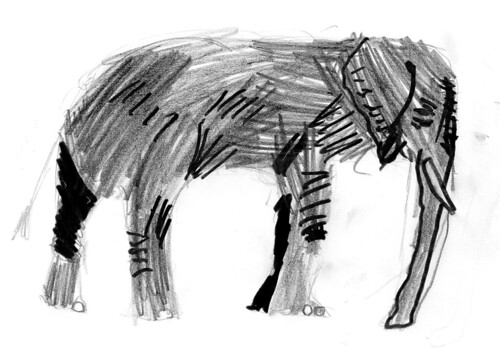 Elephant by Barien (10yo)