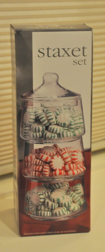 stacking glass candy display