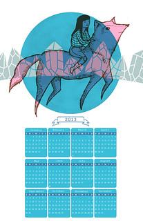 Wolf Girl 2013 Calendar