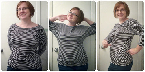 Self-drafted Dolman shirts