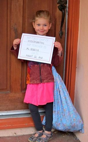 Calla first day of kindergarten