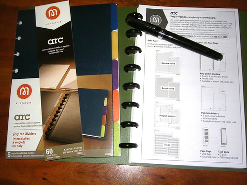 Staples arc Notebook with Dividers