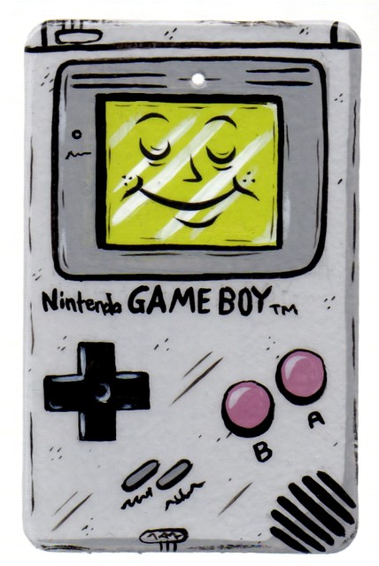 painted Game Boy ornament