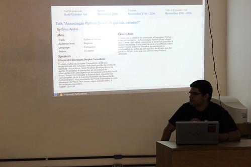 Renato falando sobre a PythonBrasil 2012