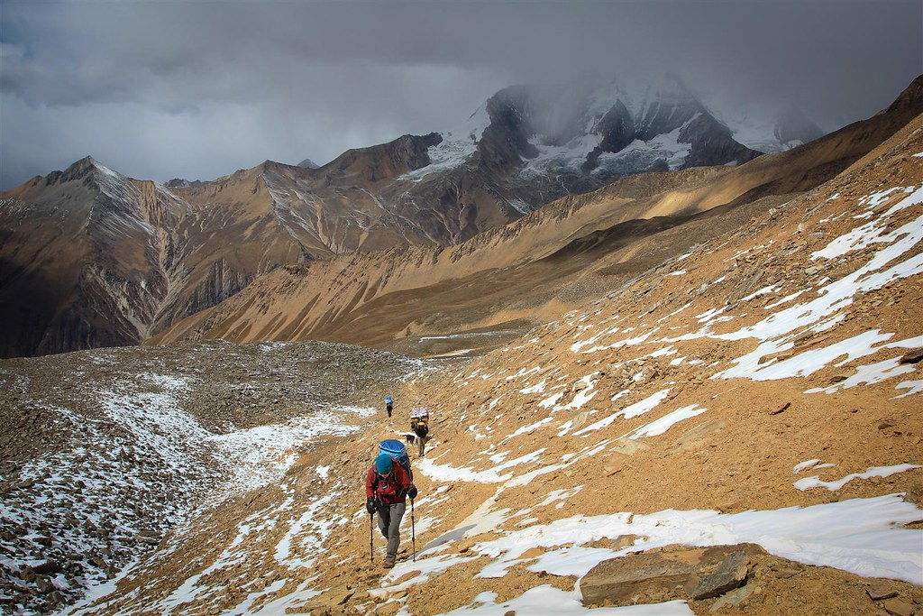 Ascending towards Kagmara La, Dolpo District, Nepal, Himalaya