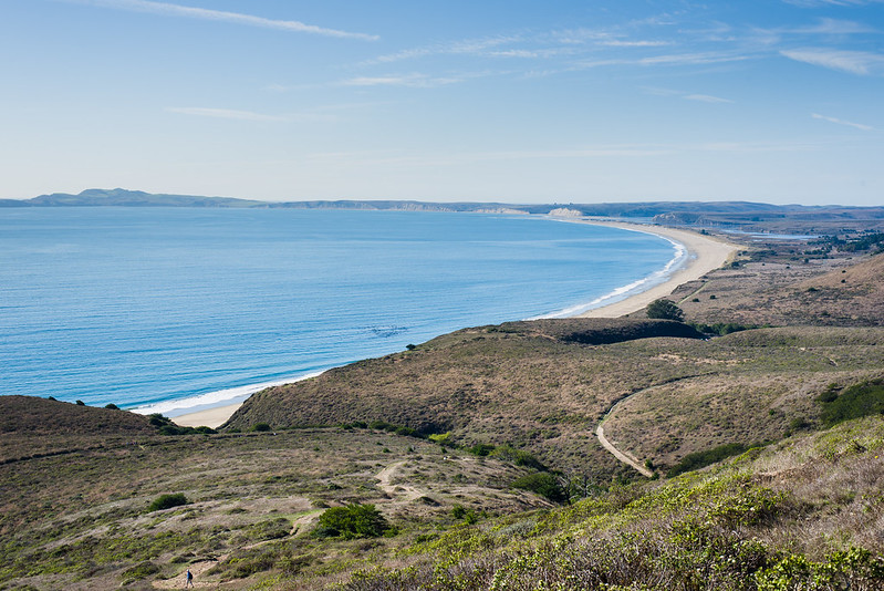 Point Reyes National Seashore, view from sky trail