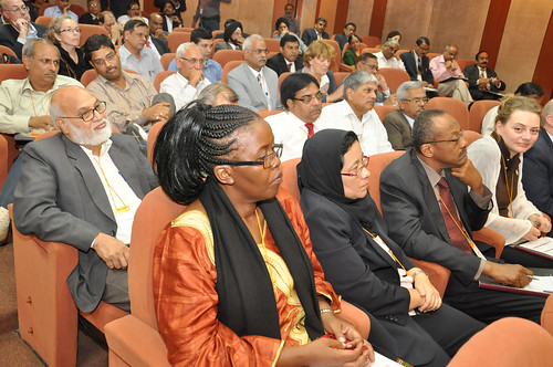 Participants listen to presentations at ILRI-ICAR Partnership Dialogue