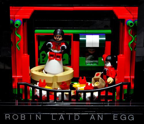 Robin laid an egg!