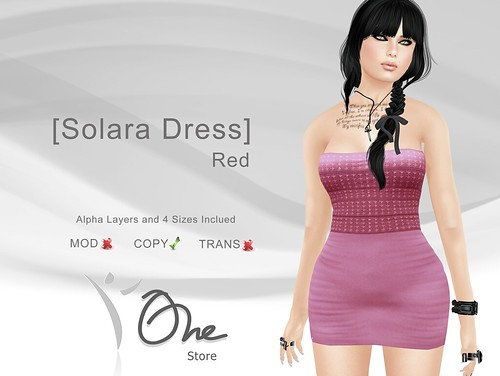 [Solara Dress] Red