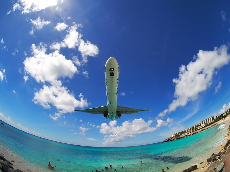 Aterrizaje en St. Martin