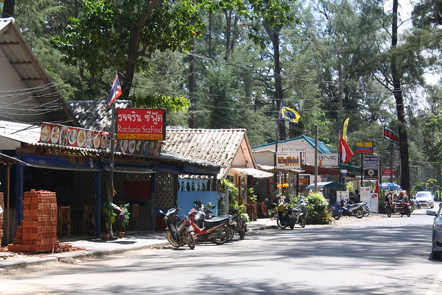 The Main Road at Nai Yang, Thailand