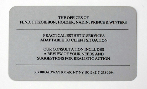 Prince, et al, the offices of fend, fitzgibbon, holzer, nadin, prince, winters