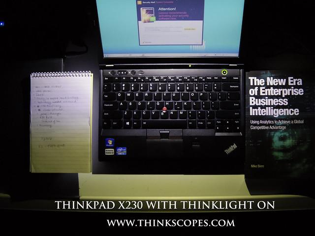 ThinkPad X230 with Thinklight On
