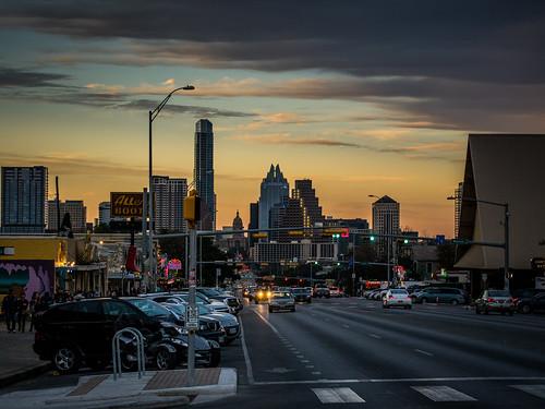 austin sunset - SoCo by Bill Oriani