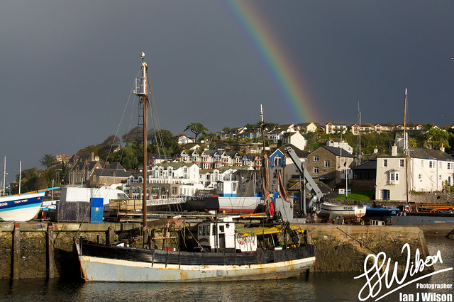 Rainbow over Brixham – Daily Photo (14th November 2012)