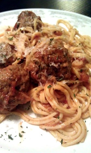 Homemade spaghetti and meatballs by pipsyq