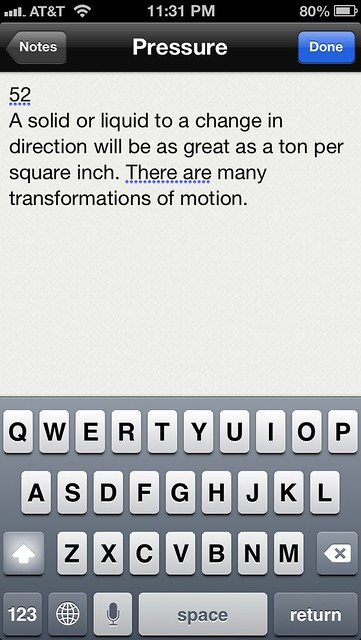 Siri dictation in Notesy