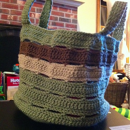 All done! #crochet #basket #project