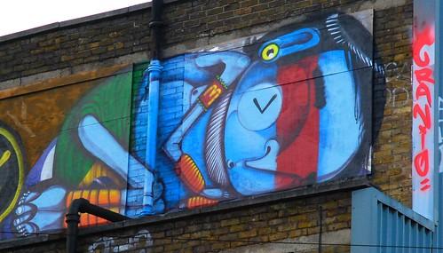 Graffiti (Cranio), Shoreditch, East London, England,