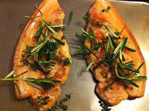 Pork Chops with herbs