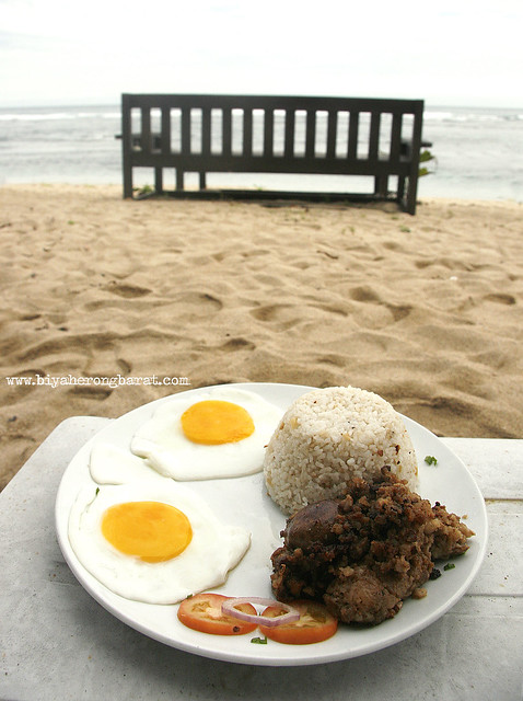 Breakfast by the beach in Kingfisher Resort Pagudpud Ilocos Norte