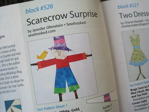 Scarecrow Surprise! In Quiltmaker's 100 Blocks, vol. 6