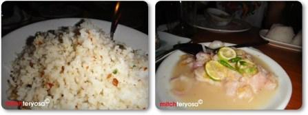 Garlic Rice and Kilawin