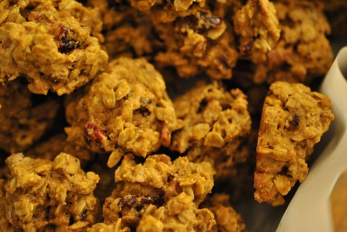 Oatmeal Pumpkin Cranberry Pecan Cookies - group shot