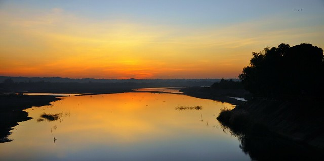 Bacarra River Sunset Panorama