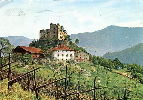postcard - bolzano - castel rafenstein -