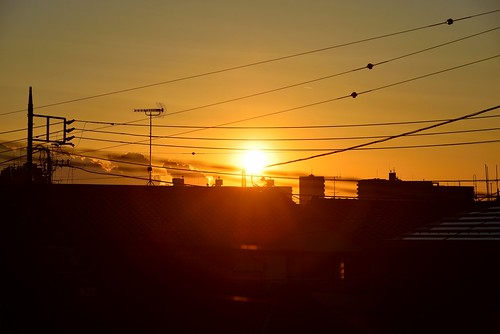 Day 336/366 : Warm Sunset on a Cold Day by hidesax