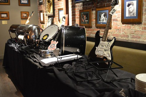 Decor - Drum Kit, Signed Guitars, Elvis, Buddy, and Johnny Cash