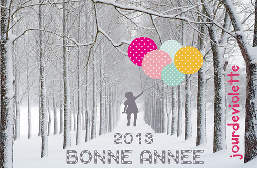 BONNE ANNEE JOURDEVIOLETTE-