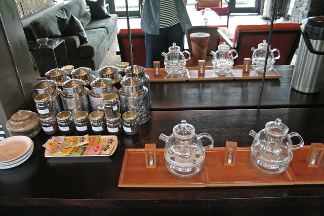 tea service at entrance at Nyungwe Forest Lodge