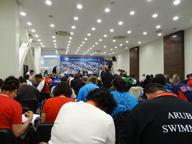 Technical meeting at the Istanbul 2012 World Champs