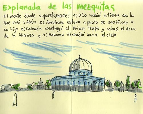 Cuaderno de viaje ilustrado. Travel Sketchbook Palestine #17