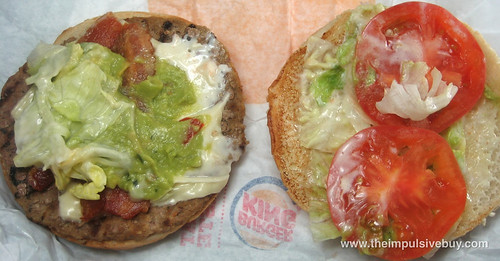 Burger King Avocado and Swiss Whopper Top