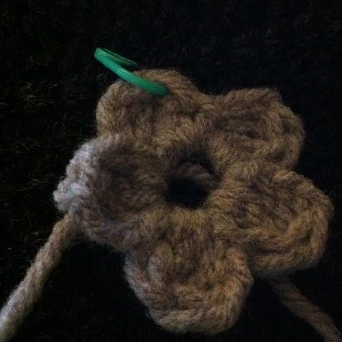 It's a hat!  Really!  #crochet #hat #flower