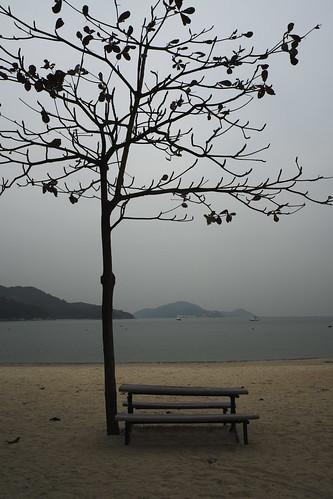 Beach in Mui Wo, Lantau Island, Hong Kong