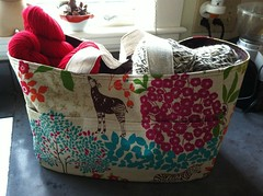 Mom's knitting bag