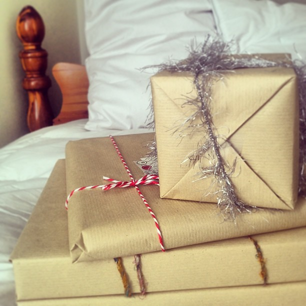 oh you know, just some brown paper packages tied up with string.