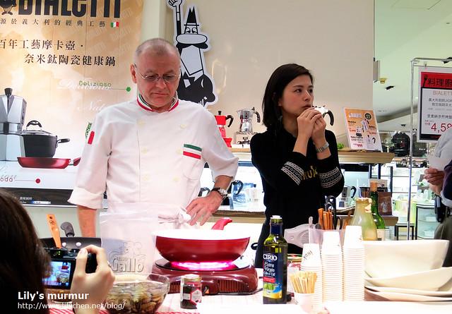 中間的這位就是洋緹的行政主廚Giorgio,可愛的義大利阿公,來台灣十年囉!