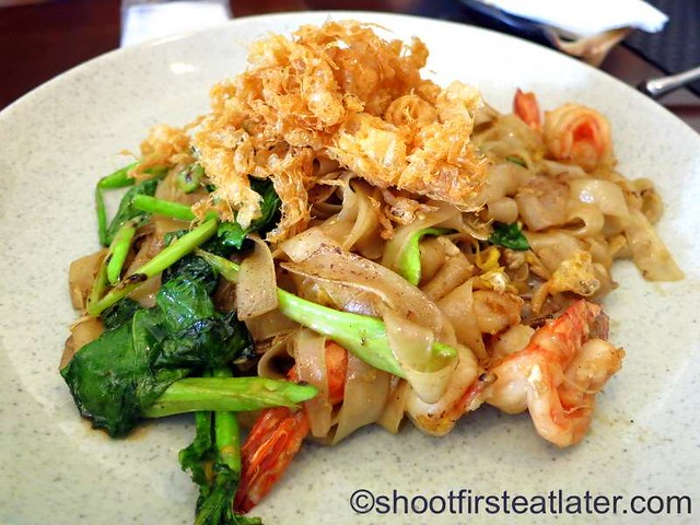 Phad See Iw Goong (noodles in soy sauce) P450