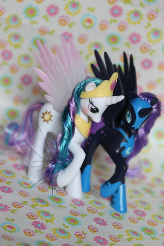 Princess Celestia and Nightmare Moon