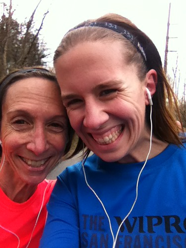 #fmsphotoaday together ... Mom ran 11 miles for the first time ever! (Not sure why I seem so much taller...)