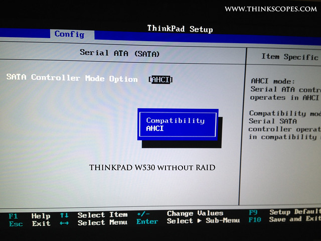 ThinkPad W530 without RAID